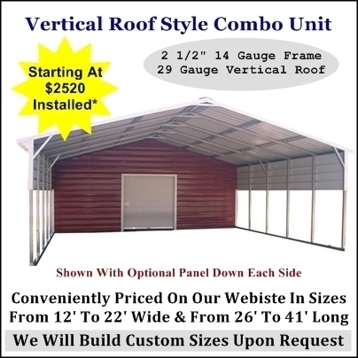 Vertical Roof Carport With Storage